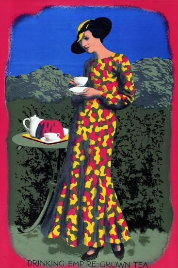 Drinking Empire Grown Tea, from the Series 'Drink Empire Grown Tea'-Harold Sandys Williamson-Giclee Print