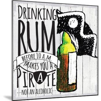 Drinking Rum-null-Mounted Giclee Print