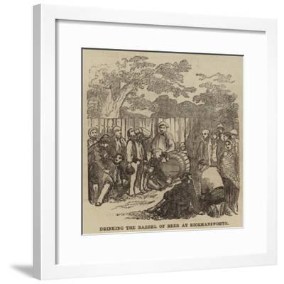 Drinking the Barrel of Beer at Rickmansworth--Framed Giclee Print