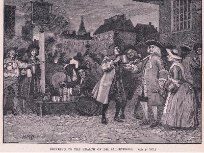 Drinking the Health of Dr Saheverell AD 1710-Henry Marriott Paget-Giclee Print