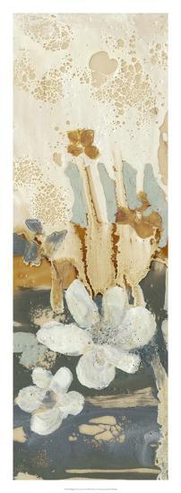 Drippy Flower Abstract I-Jennifer Goldberger-Premium Giclee Print