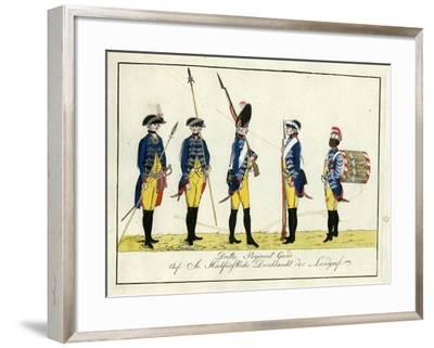 Drittes Regiment Garde, C.1784-J. H. Carl-Framed Giclee Print