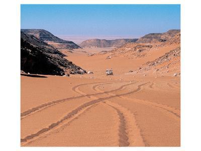 Drive Through The Desert--Art Print