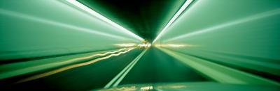 Drivers Perspective in Tunnel, Blurred Motion--Photographic Print