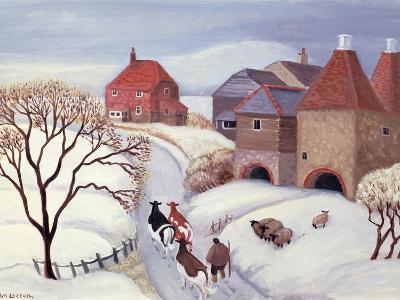 Driving Cows Home in the Snow-Margaret Loxton-Giclee Print
