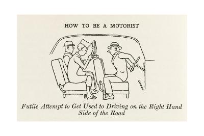 Driving on the Right Hand Side-William Heath Robinson-Giclee Print