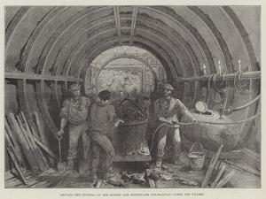 Driving the Tunnels of the London and Southwark Sub-Railway under the Thames