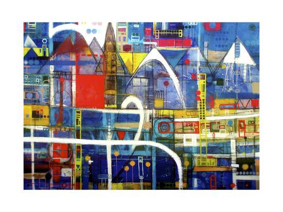 Driving to Wanaka-David Spencer-Giclee Print