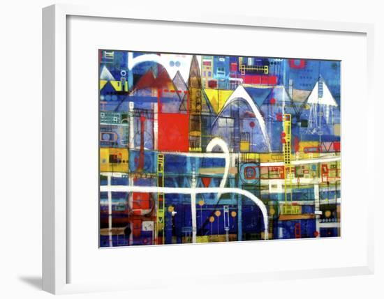 Driving to Wanaka-David Spencer-Framed Giclee Print