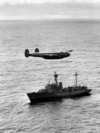 "Drop over Weather Ship ""India"" from Raf Shackleton of 204 Squadron--Photographic Print"