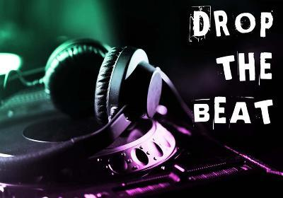 Drop The Beat - Green and Pink-Color Me Happy-Art Print