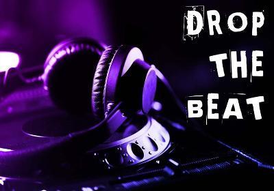 Drop The Beat - Purple and Blue-Color Me Happy-Art Print