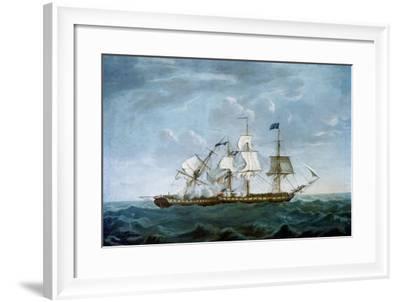 Dropping Astern-Michel Felice Corne-Framed Art Print