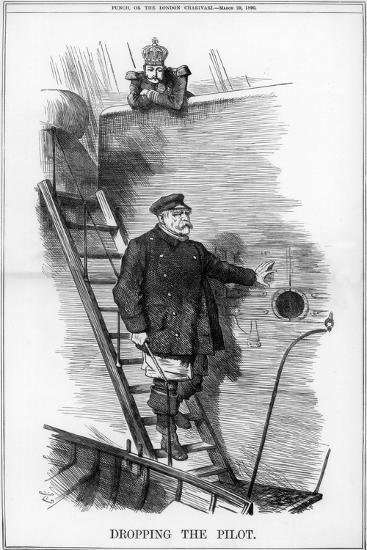 Dropping the Pilot, 1890-John Tenniel-Giclee Print