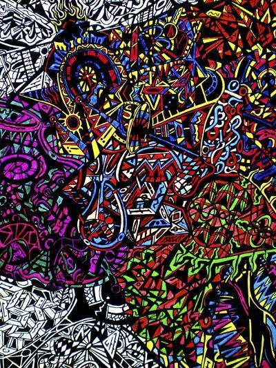 Drops-Abstract Graffiti-Giclee Print