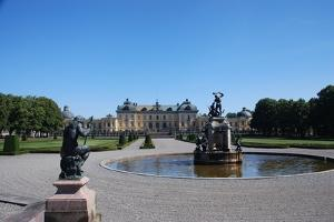 Drottningholm Palace, from the Gardens