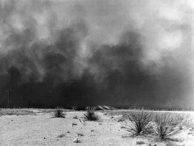 Drought: Dust Storm, 1936--Photographic Print