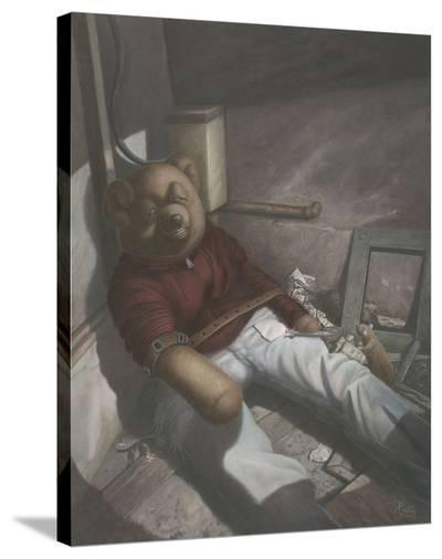 Drug Addict Teddy II-Preston Craig-Stretched Canvas Print