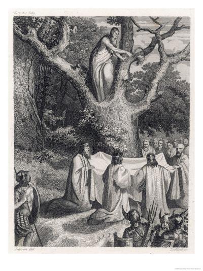 Druids Cut the Sacred Mistletoe- Jeanron-Giclee Print