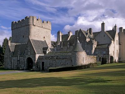 Drum Castle, with a 13th Century Keep, Near Peterculter, Aberdeenshire, Scotland, UK-Patrick Dieudonne-Photographic Print