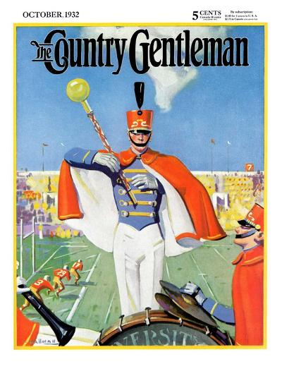 """Drum Major,"" Country Gentleman Cover, October 1, 1932-Hallman-Giclee Print"