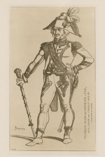 Drum Major of Chasseurs a Pied of the Consular Guard, 1802-04-Raphael Jacquemin-Giclee Print