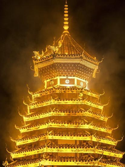 Drum Tower in Guizhou, China-Tino Soriano-Photographic Print
