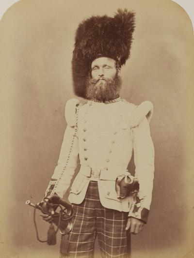Drummer John Rennie, 72nd (Duke of Albany's Own Highlanders) Regiment of Foot- Joseph Cundall and Robert Howlett-Photographic Print