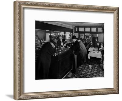 Drunk Male Patron at an Speakeasy in the Business District Protected From Police Prohibition Raids-Margaret Bourke-White-Framed Premium Photographic Print