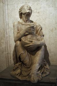 Drunk Old Woman, Sculpture, Marble, Capitoline Museums, Rome, Italy