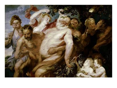 Drunken Silenus Supported by Satyrs-Sir Anthony Van Dyck-Giclee Print