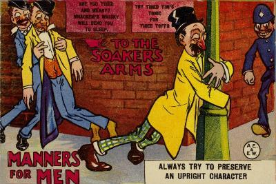 Drunks on a Street--Giclee Print