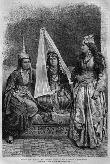 Druze Princess, from 'La Syrie D'Aujourd'Hui. Voyages Dans La Phenicie, Le Liban Et La Judee.…--Giclee Print
