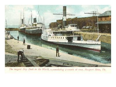 Dry Dock, Newport News, Virginia--Art Print