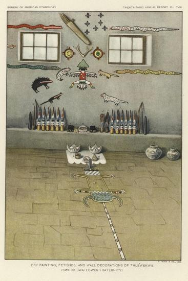 Dry Painting, Fetishes, and Wall Decorations of Thlewekwe--Giclee Print