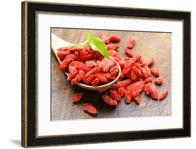 Dry Red Goji Berries for a Healthy Diet-Olga Krig-Framed Photographic Print