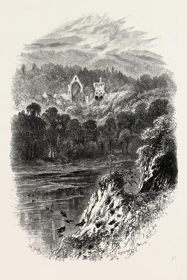 Dryburgh Abbey, Uk, 19th Century--Giclee Print