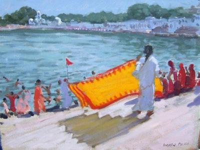Drying Sari, Pushkar-Andrew Macara-Giclee Print