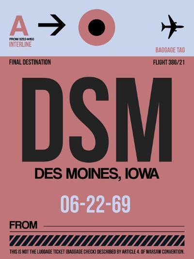DSM Des Moines Luggage Tag I-NaxArt-Art Print