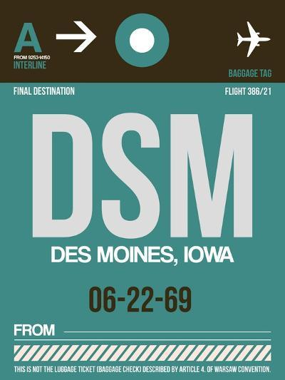 DSM Des Moines Luggage Tag II-NaxArt-Art Print
