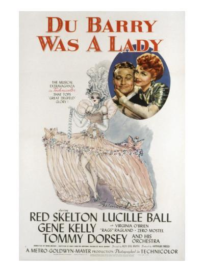 Du Barry Was a Lady, Red Skelton, Lucille Ball, 1943--Photo