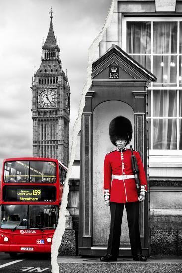 Dual Torn Posters Series - London-Philippe Hugonnard-Wall Mural