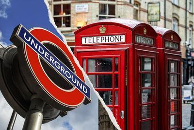 Dual Torn Posters Series - London-Philippe Hugonnard-Photographic Print