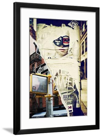 Dual Torn Posters Series - New York City-Philippe Hugonnard-Framed Photographic Print