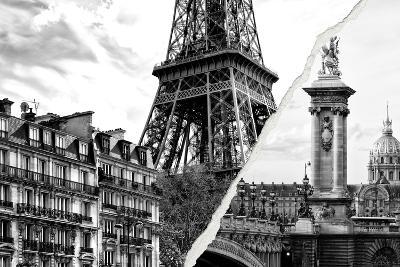 Dual Torn Posters Series - Paris - France-Philippe Hugonnard-Wall Mural