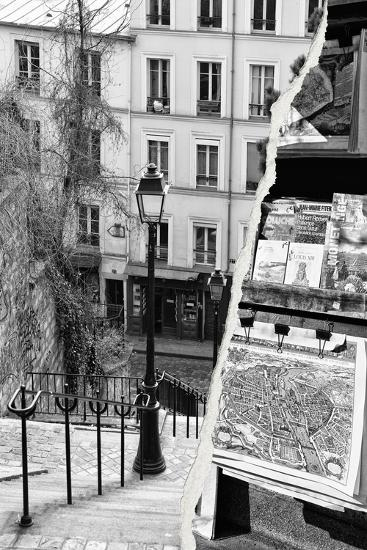Dual Torn Posters Series - Paris - France-Philippe Hugonnard-Photographic Print