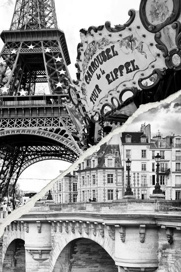Dual Torn Posters Series - Paris - France-Philippe Hugonnard-Photographic Print