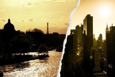 Dual Torn Posters Series - Paris - New York-Philippe Hugonnard-Photographic Print