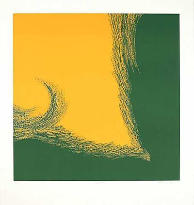 Dualität I (Grün/Gelb)-Paul Nievergelt-Limited Edition