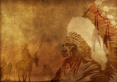 Native Americans Background by duallogic